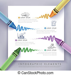 business education crayon Infographics - creative...