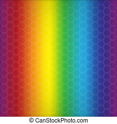 Abstract rainbow background with cells.