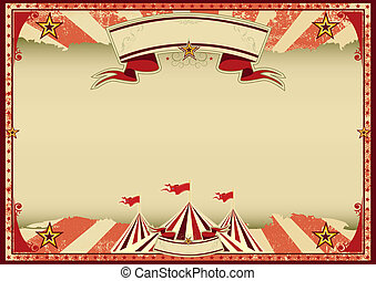 Red circus retro - A red vintage circus background for a...