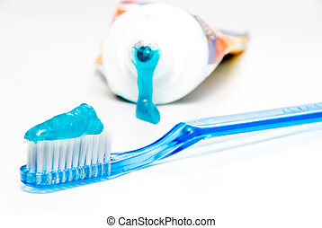 Dental Care - A new toothbrush and toothpaste. Dental care...