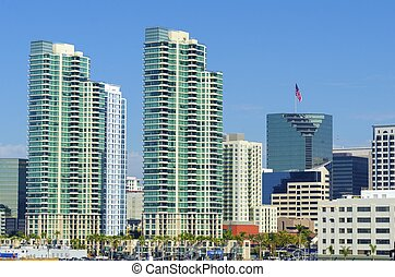 Downtown San Diego, California - A view of the Marina...