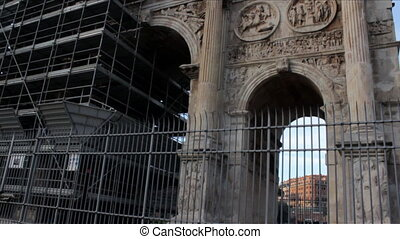 Arch of Constantine Wide Shot - Famous Arch of Constantine...