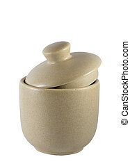 Ceramic Sugar Bowl. - Ceramic Sugar Bowl White back