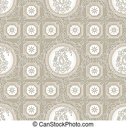 Paisley seamless rich background
