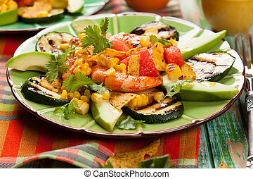 Mexican Grilled Shrimp Salad with...