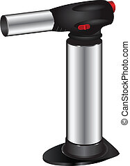 Butane torch - Butane lighter for culinary use Vector...