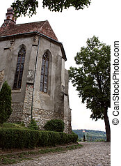 Gothic church - Medieval gothic church from old part of...