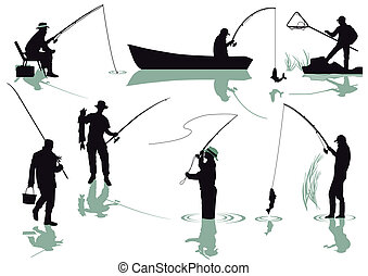 Anglers fishing