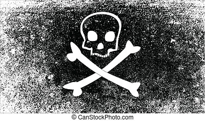 Jolly Roger - A typical skull and crossbones pirate vesel...