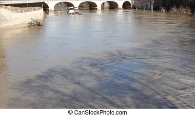 Tiber River After Flood - Tiber River after Flood in Rome in...