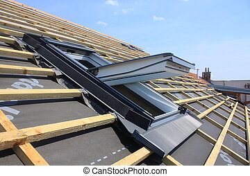Roof window - New roof coverings but without the skylights -...