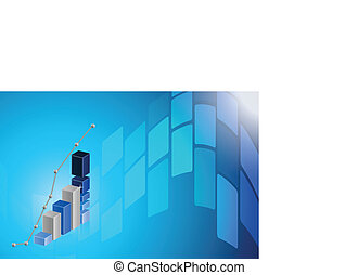 business graph blue Abstract technology background...