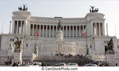 Vittoriano Frontal View tilt Up - Monumento Nazionale a...