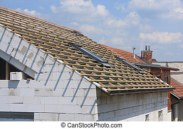 New roof coverings but without the skylights