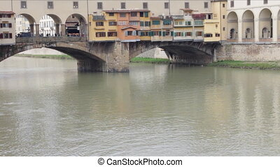 Ponte Vecchio in Cloudy Weather