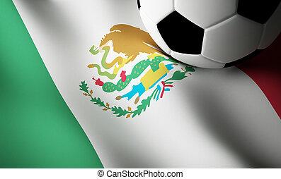 Mexican flag, football