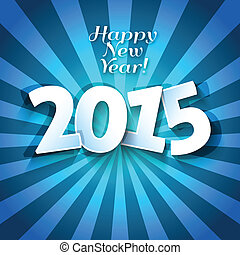Happy New Years 2015 greeting card