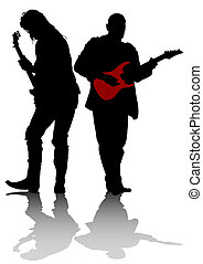 Two guitarists