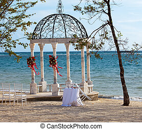 pavilion with a view of the sea