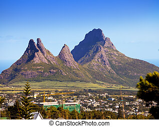 The city at the bottom of mountains Mauritius