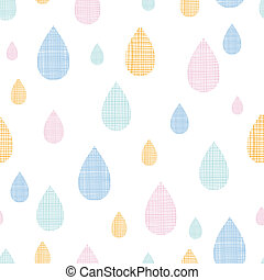 vector abstract textile colorful rain drops seamless pattern...