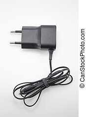 Charger black color - The charger of black color for...