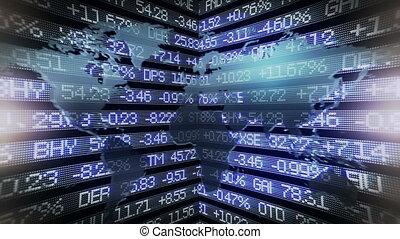 Stock an world map