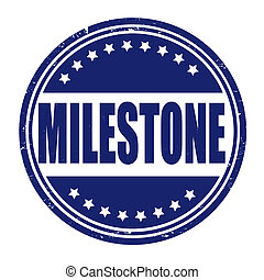 Milestone stamp - Milestone grunge rubber stamp on white,...