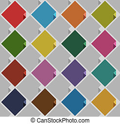 background from blank squares old color. Vector illustration