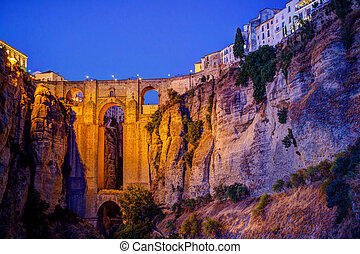 Ronda in Andalusia, Spain - End of day the village of Ronda...
