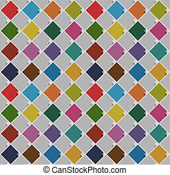 seamless background from blank squares old color Vector...