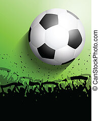 Football or soccer crowd - Silhouette of a crowd on a...