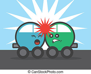 Car Faces Crash