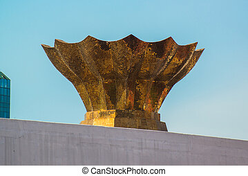 Empty torch on the top of stadium - Empty torch on the top...