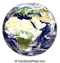 World globe - Color image of earth Special thanks to NASA...