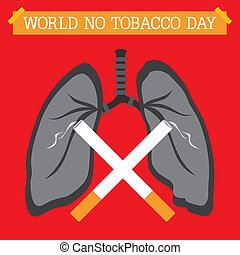 World No Tobacco Day - An abstract illustration of World No...