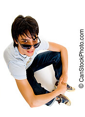 Teenager boy - Handsome teenager boy, casual dressed,...