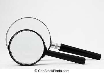 Magnifying glass - Magnifying Glass Loupe on a White...