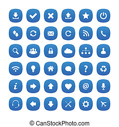 Blue rounded square icons
