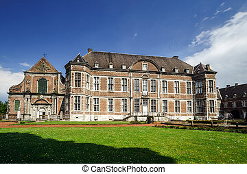 Old abbey in small belgium city Religious place