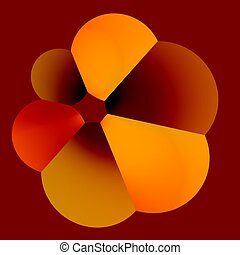 Fat Flower - Abstract Funny Fat Flower - Pumped Baloon -...