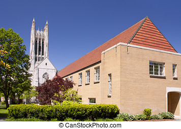 Gothic style church. - The beautiful exterior of the gothic...