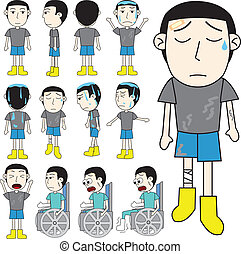 unlucky man vector - unlucky man cartoon vector