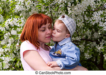 Family in a garden 2 - The picture is made during walk with...
