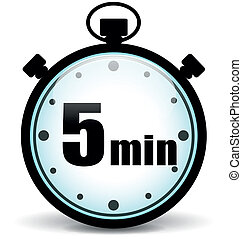 Five minutes stopwatch - Vector illustration of five minutes...