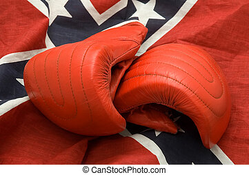 boxing gloves - red boxing gloves on Confederate, Rebel, or...