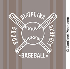 baseball respect - baseball vector illustration for shirt...