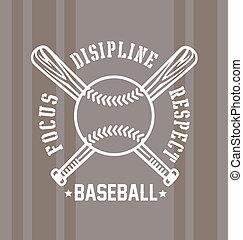 baseball respect - baseball vector illustration for shirt...