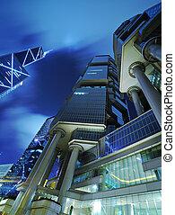 Hong Kong Business District at Night