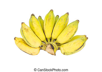 Bunch of bananas on white background - Bunch of bananas...